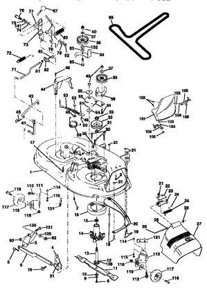 MOWER DECK Diagram & Parts List for Model 917270810