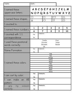 Preschool Assessments