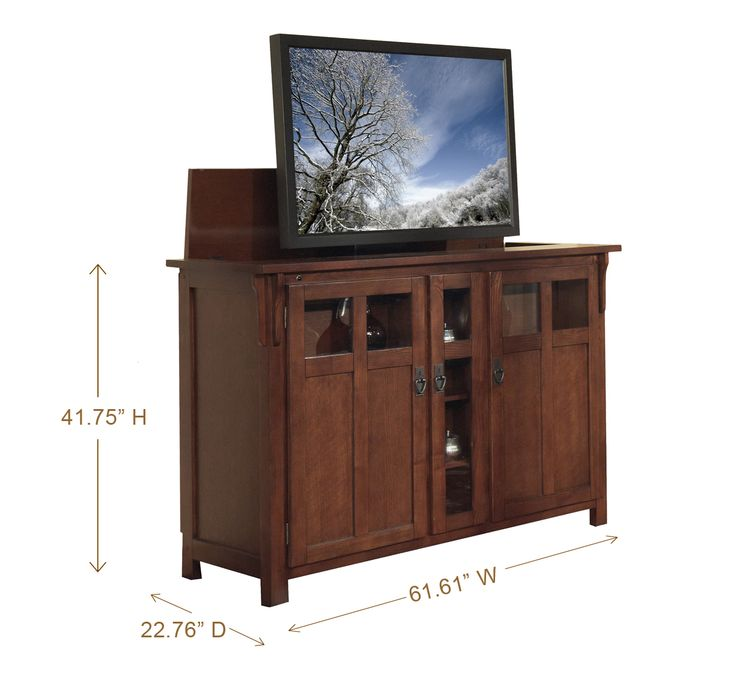 Bungalow Mission Oak TV Lift Cabinet Wwwtouchstonehomeprodutscom For The Home Pinterest