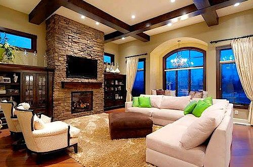 Love The Some Fireplace With Sectional Couch. Kind Of Like