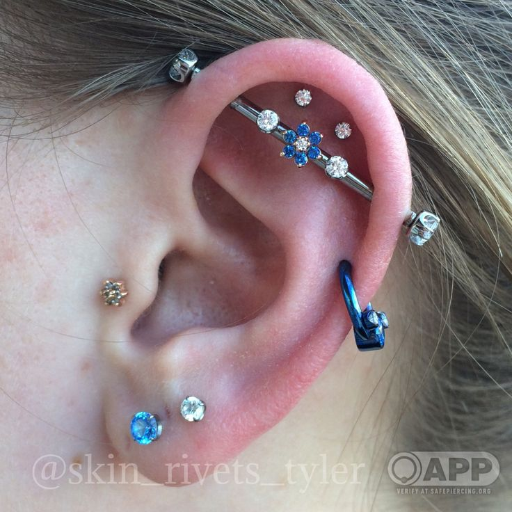 Tragus Double Outer Conch Helix Industrial And Lobe