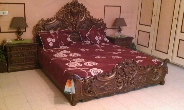 Wood Carving Bed Pakistans First Classified Web Site