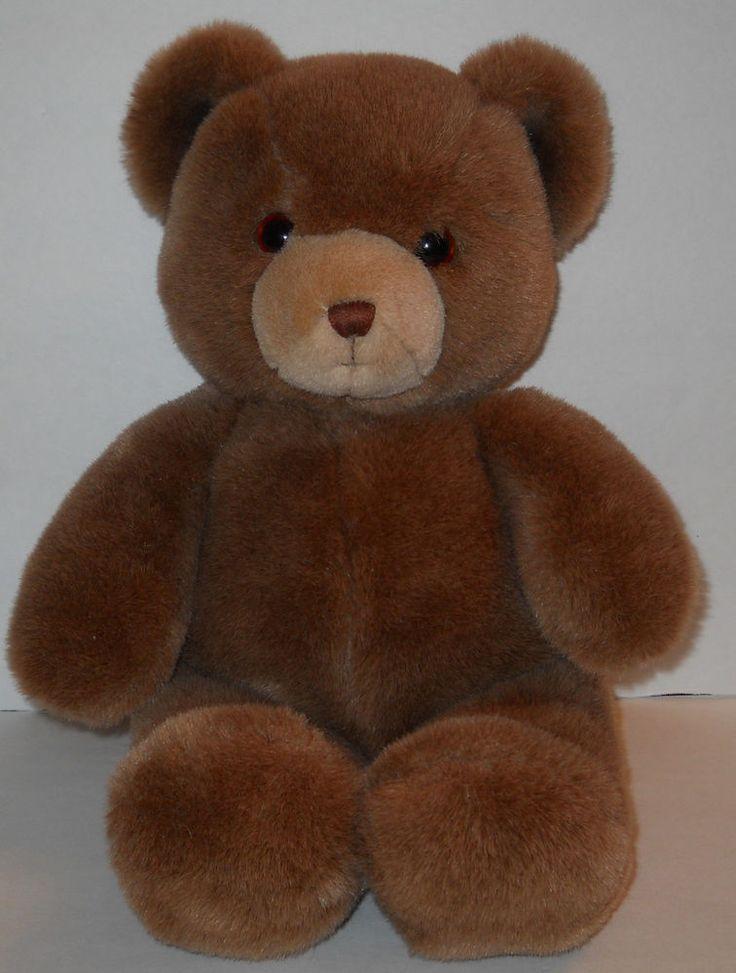 Gund Brown Tender Teddy Bear Plush 1983 Karitas Korea