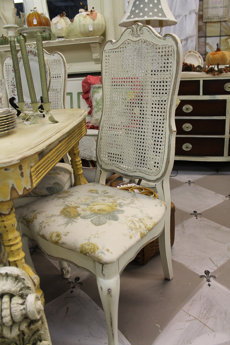 French Cane Back Chairs ASCP Old White And French Linen Wwwtatteredeleganceblogspotcom