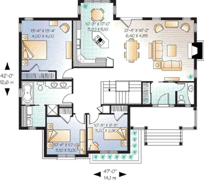 Houseplan 23 635 3 Bedroom Tried To Make It In Sims And Dream House Planscottage