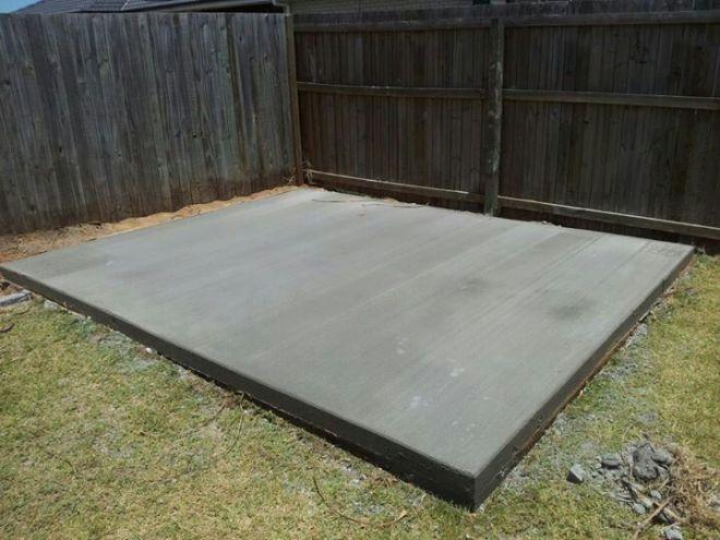 Concrete slab for our shed concrete pinterest sheds