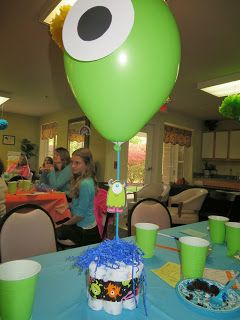 It's A Party-ful Life! Monsters University/Monsters Inc. baby shower decor