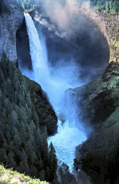 Helmcken Falls at Wells Gray Provincial Park near Clearwater, Canada:
