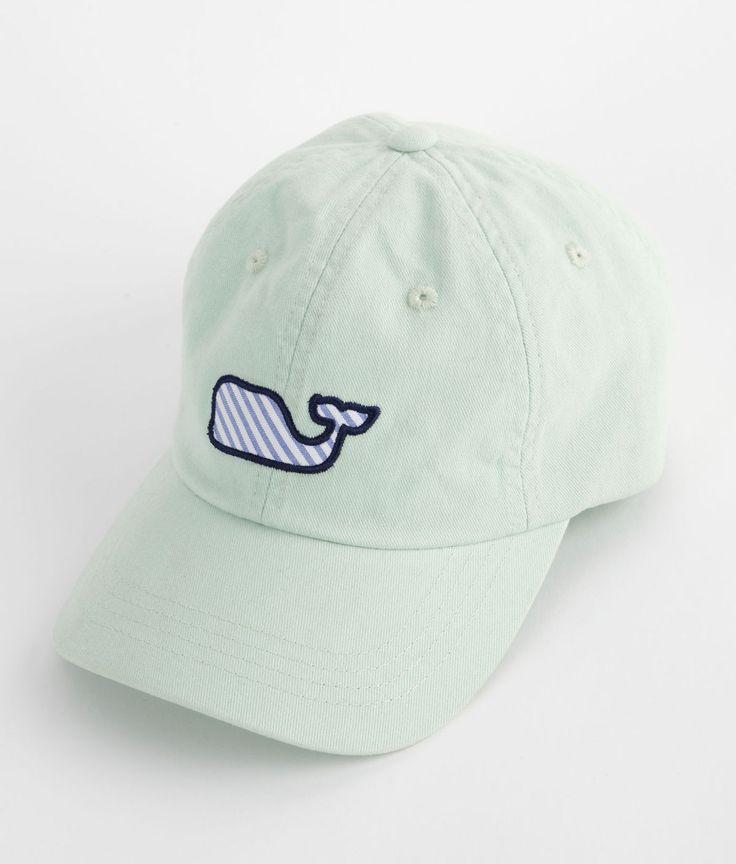 Seersucker Whale Baseball Hat