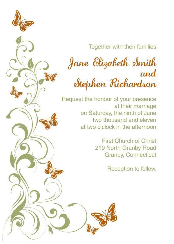Wedding Invitation Inserts Template Free   PaperInvite