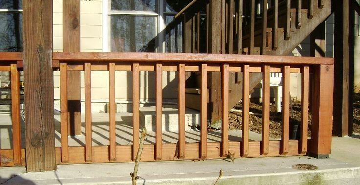 How To Build A 2x4 Deck Rail On A Concrete Patio A Deck
