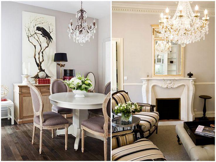 Una casa romantica con lo stile parigino for Interni case francesi