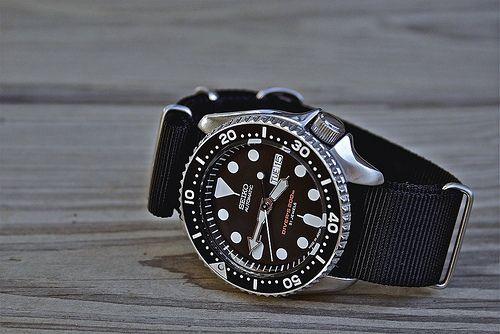 Seiko SKX007 with black NATO strap | Seiko | Pinterest ...