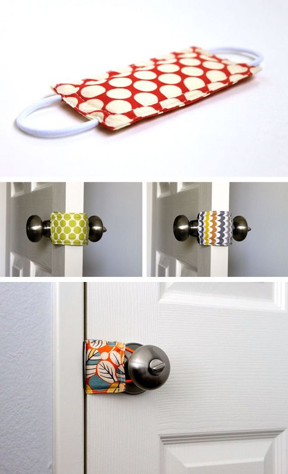 I need to make one of these for every room upstairs….   Close interior doors silently in Accessories for bath, bedding, feeding