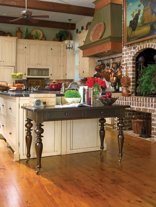 Paulas Kitchen Brick Kitchen Fireplace Home
