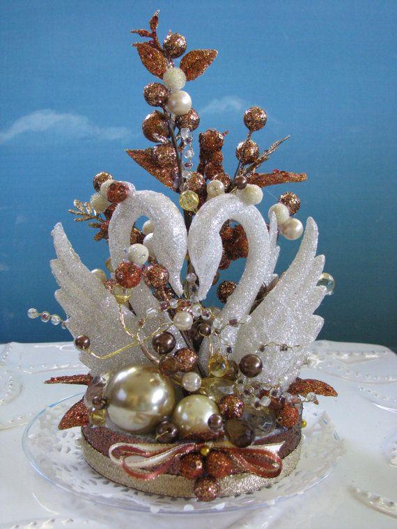 Swan Wedding Cake Topper Anniversary Cake Topper Cake