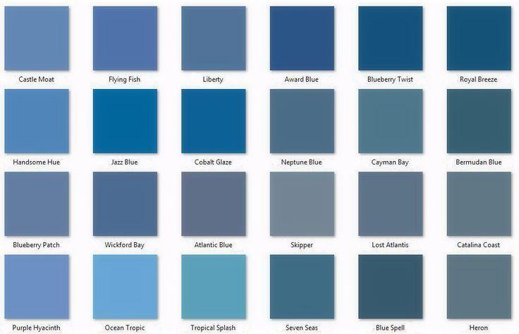 comparison of some behr blues paint colors pinterest on home depot paint color charts id=25629