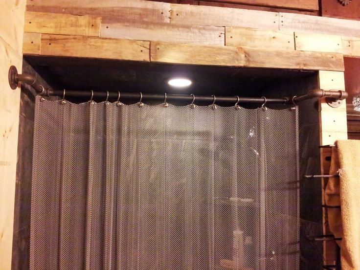 Metal Shower Curtain With Plumbing Pipe Curtain Rod My Bathroom Pinterest Metals Curtain