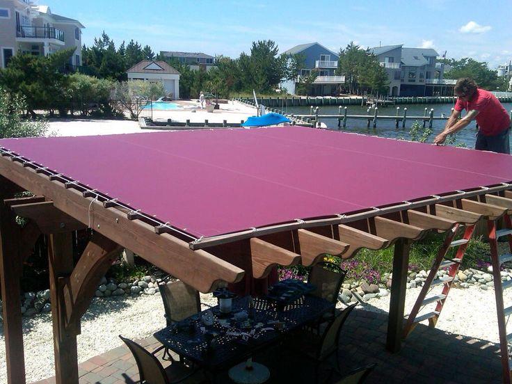 canvas cover - waterproof??? | Pergola Idea's | Pinterest ... on Canvas Sun Shade Pergola id=87149