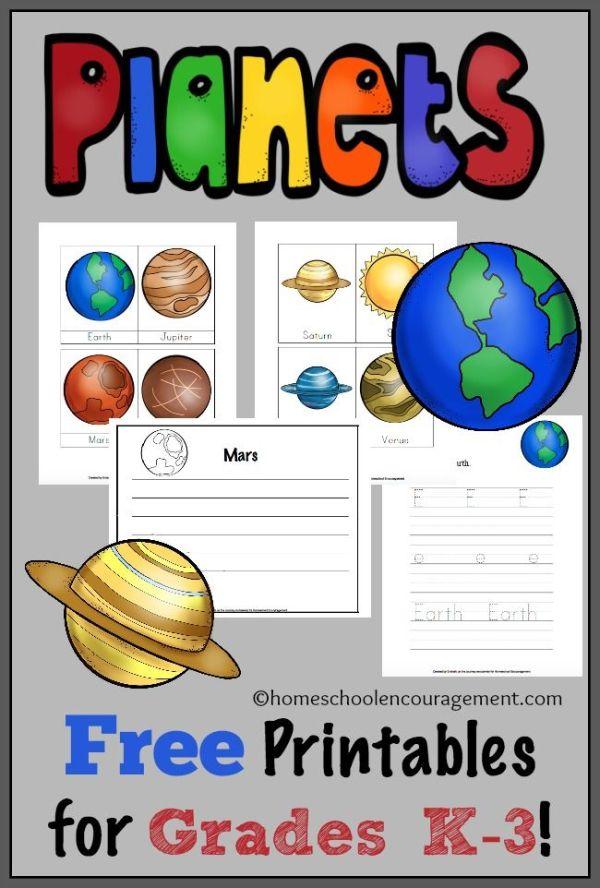 Free Solar System Printables for Grades K-3 | The white ...