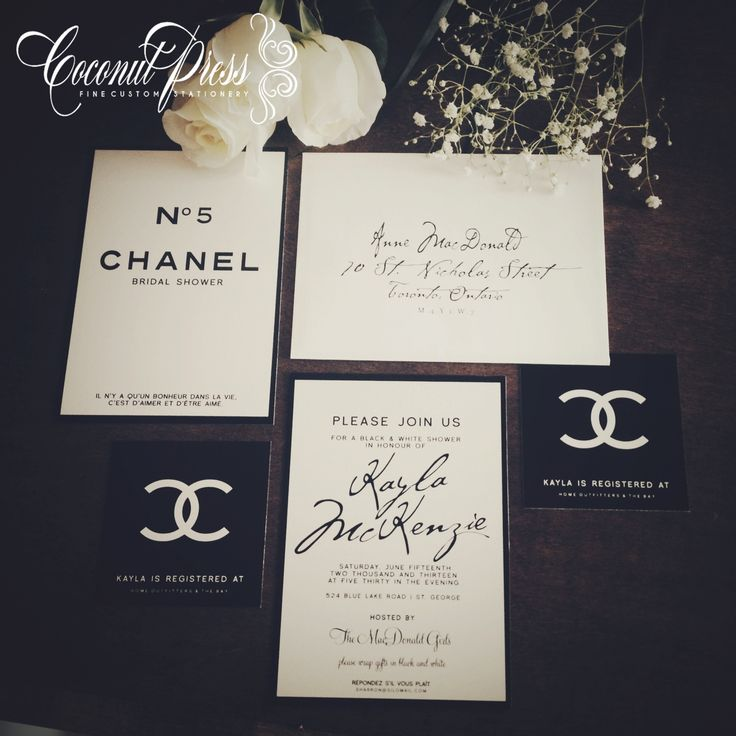 Classy Black Amp White Coco Chanel Inspired Bridal Shower