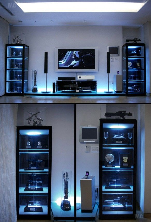 Ultimate Star Wars Room Decor Need To Get Shelving Like This For The Sabers