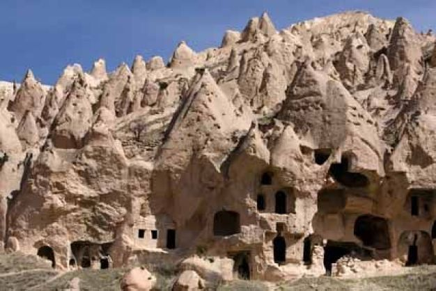 Cave dwellings, rock-cut churches, monasteries and underground cities in Cappadocia, Turkey: