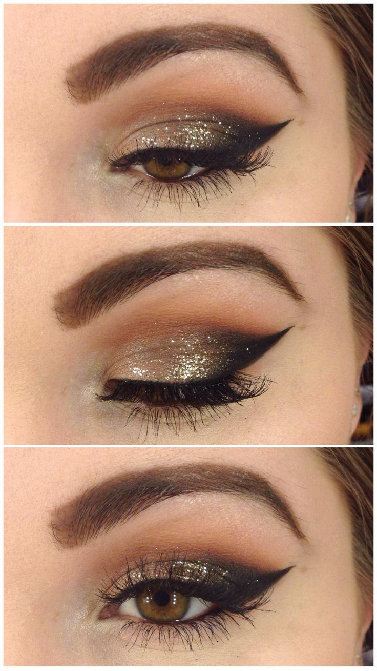Sparkly eye shadow