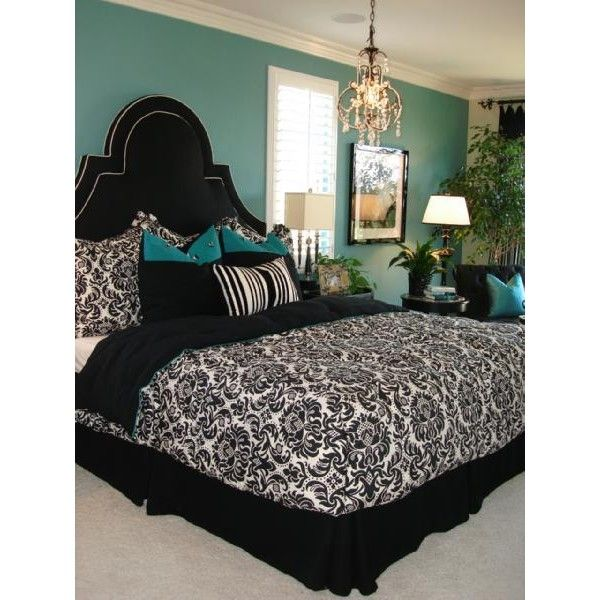 turquoise blue and black bedroom ideas - bedroom style ideas
