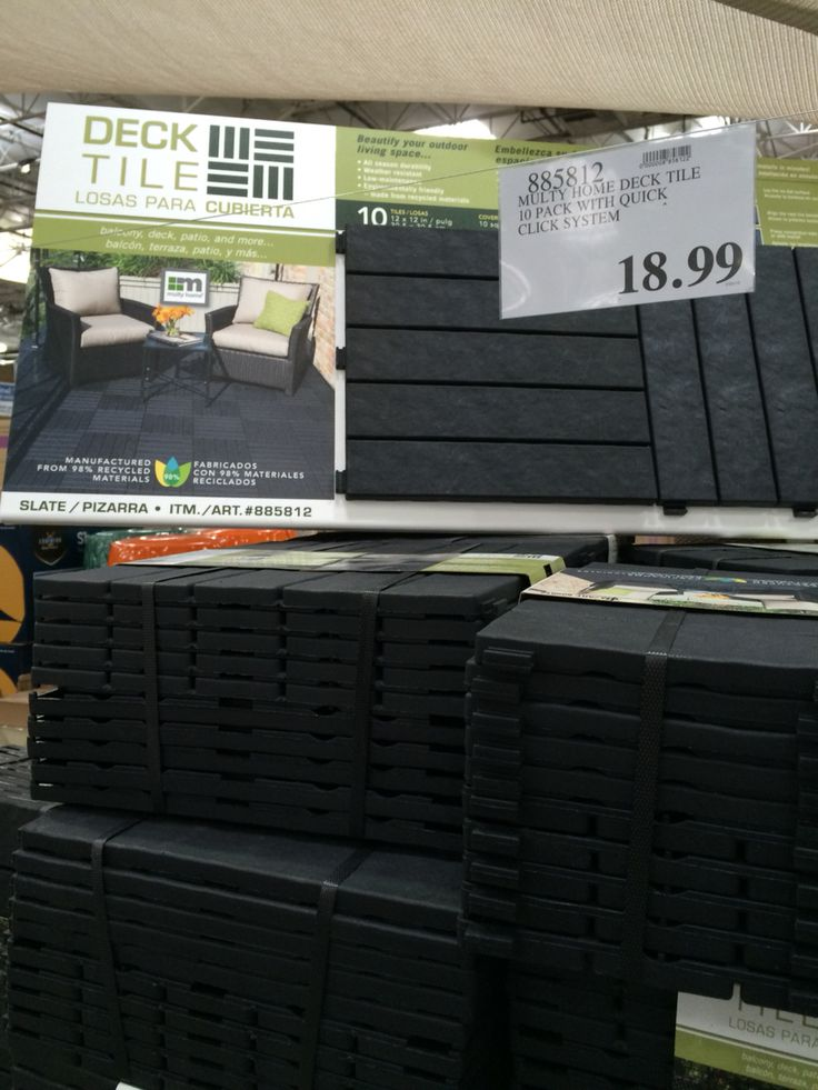 10 Pack Patio Deck Tiles Recycled Material 1899 Deck