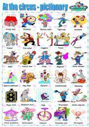 English Worksheet At The Circus