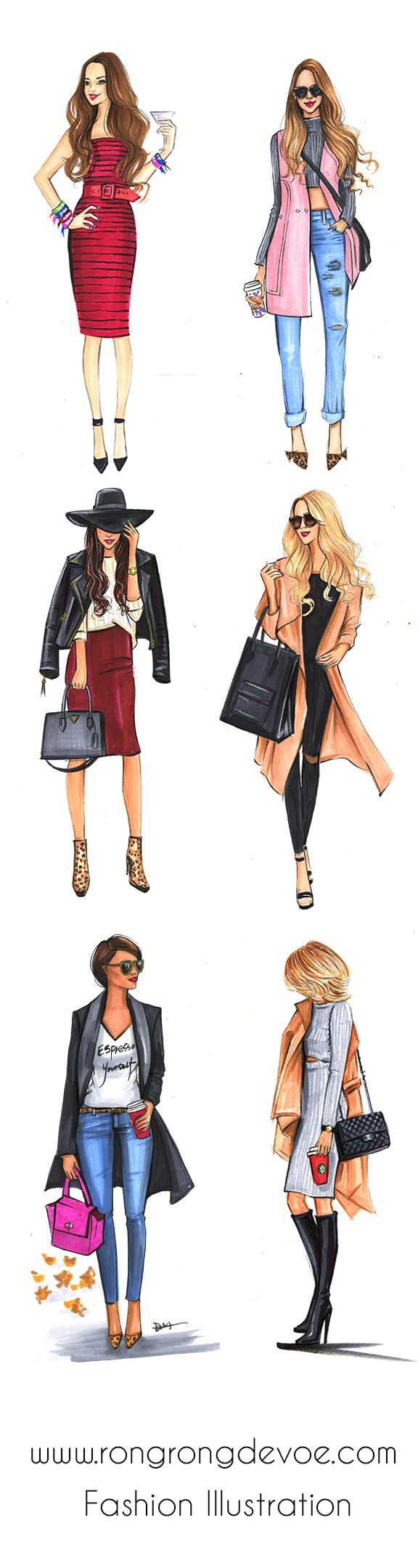 best images about sketches on Pinterest Watercolors Fashion