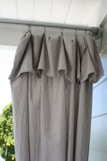 Diy Curtain Rod For Outside House Ideas Pinterest Drop Cloth Curtains Curtain Rods And