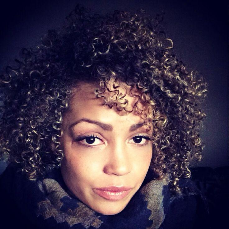 Big Curly Hair Blonde Highlights Curly Hair Pinterest