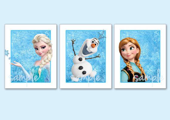 FROZEN Artwork Set Of 3 8x10 Art Prints Disneys Pixar Frozen Art On Etsy 1650 Alainas