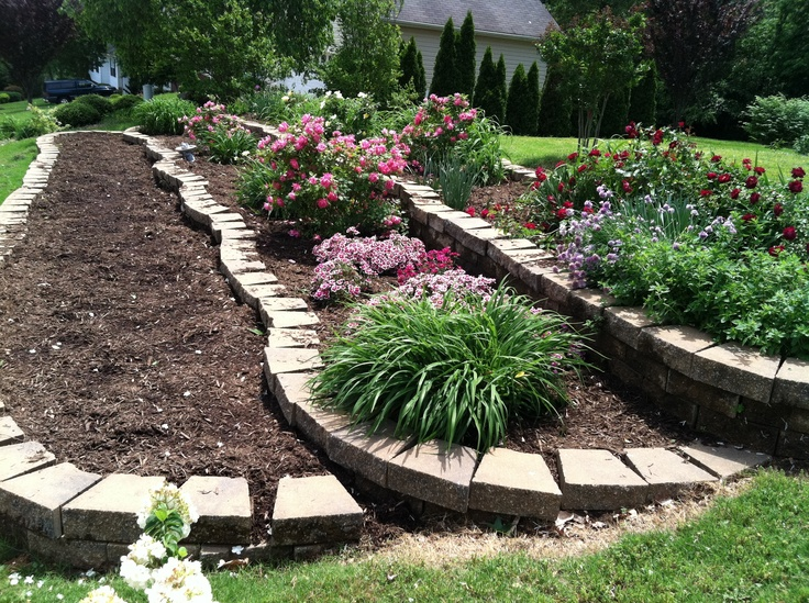 14 best images about Tiered gardens on Pinterest | Small ... on Tiered Yard Ideas  id=30506