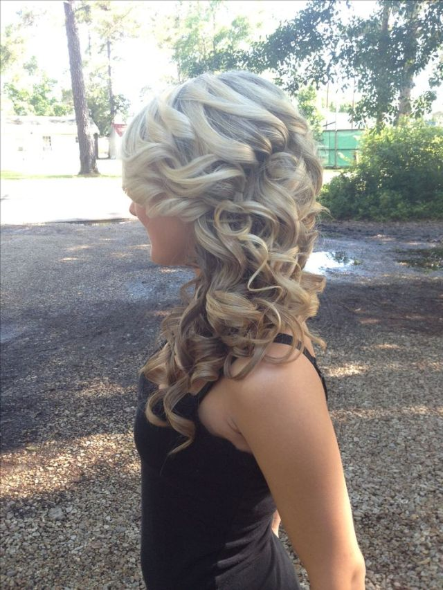 Prom  hair  updo  curly hair  blonde hair  cute  hairstyles
