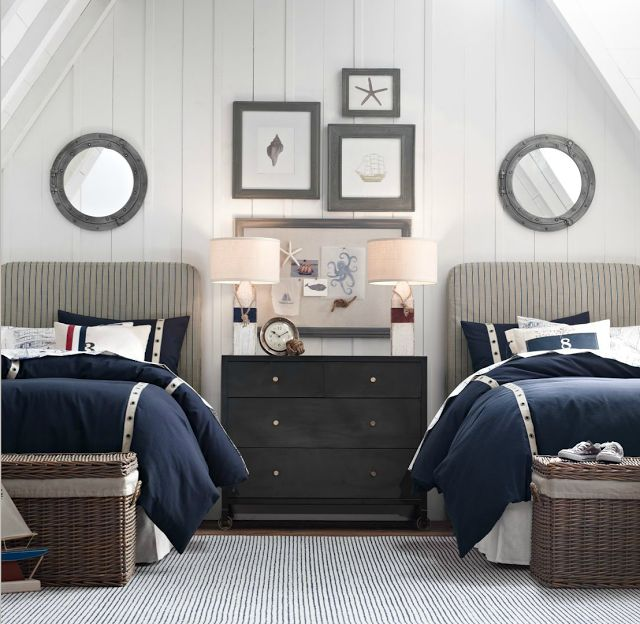 Nautical Lamps In A New England Style Interior Via Casa TrÈs Chic