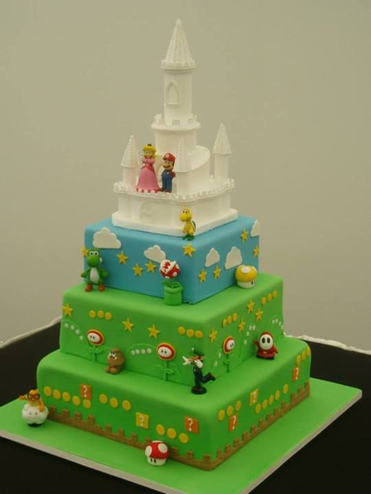 Super Mario Wedding Cake Wedding Cakes Amp Bridal Shower