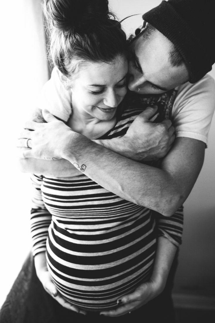 Maternity couple pose