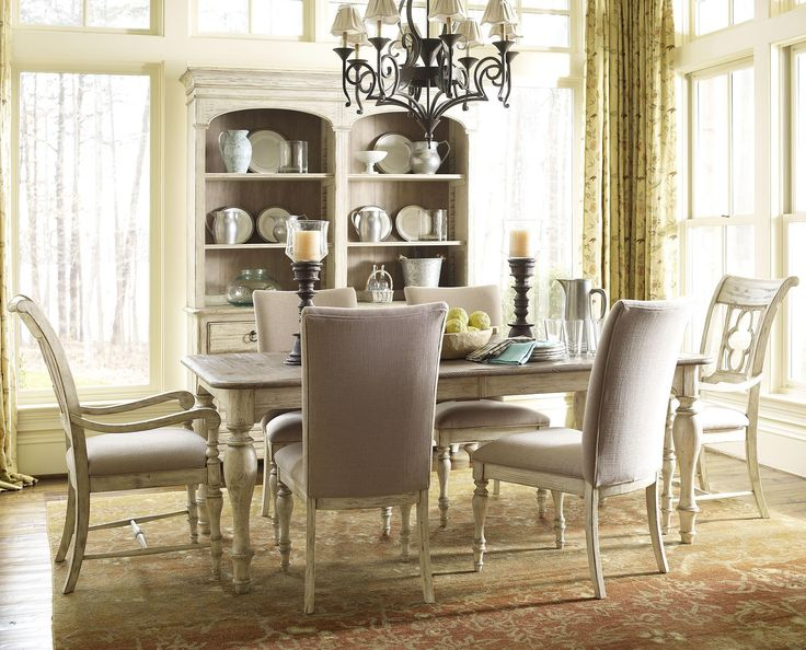 Weatherford 7 Piece Dining Set With Canterbury Table And