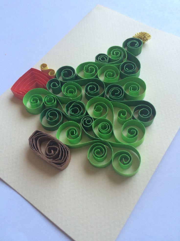 Tarjeta De Navidad Quilling Filigrana Mis Creaciones