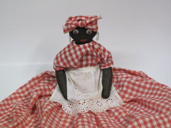 Vintage Aunt Jemima Doll Toaster Cover OOAK Handmade
