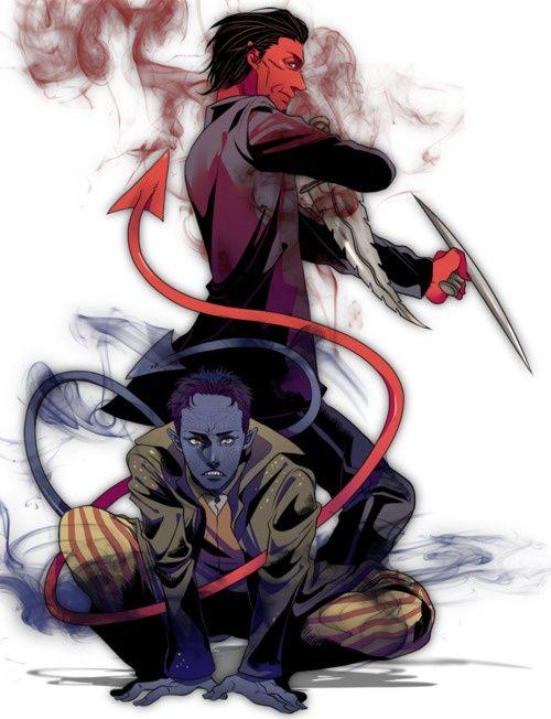 Xmen Nightcrawler Amp Azazel Superheroes Nightcrawler Azazel Xmen X Universe Azazel