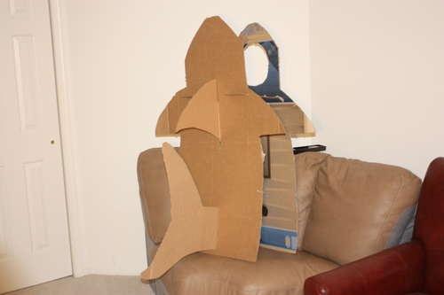 Making Of A Cardboard Shark
