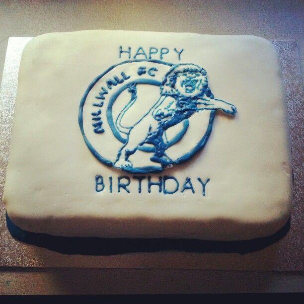 Millwall Birthday Cake Football Team Cakes Pinterest