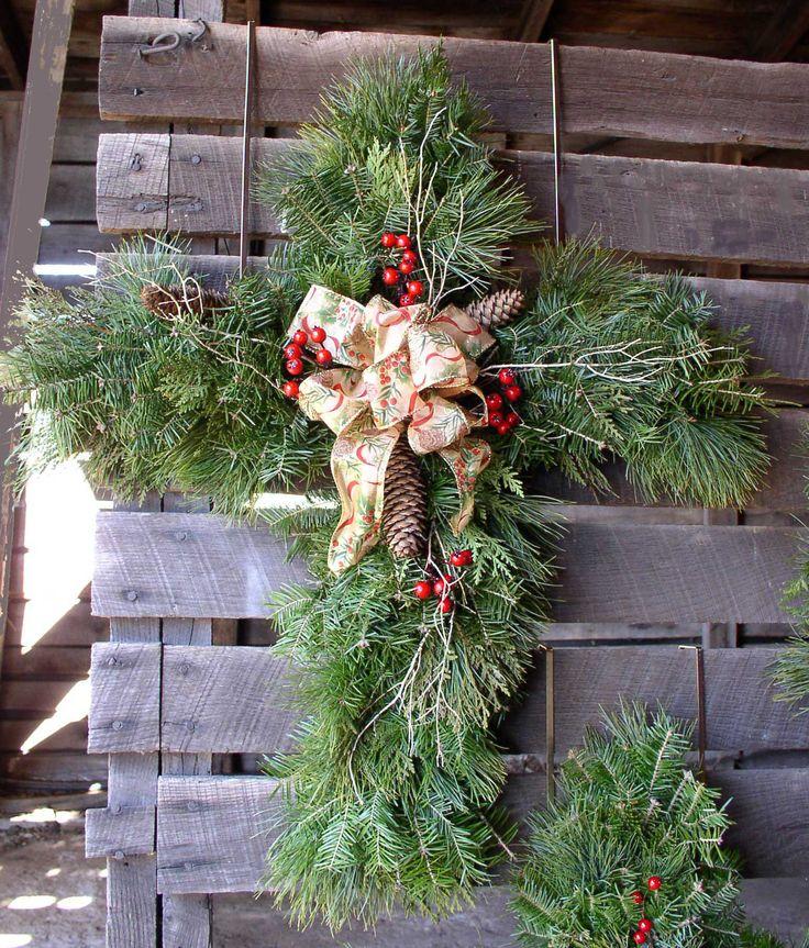Cross Shaped Christmas Wreath Spread The Good News With