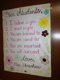 I would LOVE to walk into my sons class and see this at orientation…Letter to the class
