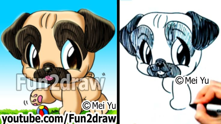 Baby Cartoon Color Cute Pugs