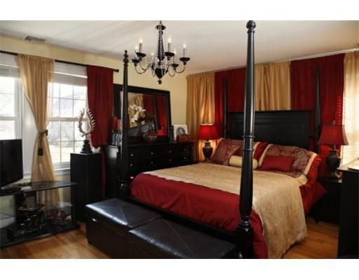 17 Best Ideas About Red Black Bedrooms On Pinterest